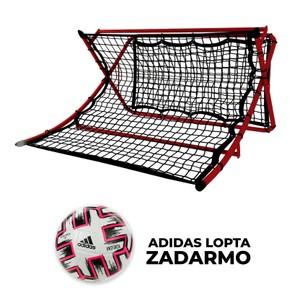 Nastreľovací trenažér 111,7x105,5x63,5 cm + lopta adidas
