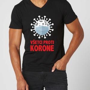 Tričko s potlačou Všetci proti korone