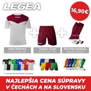 LEGEA dres krátky PRISTINA + trenky TAIPEI + štulpne MONDIAL