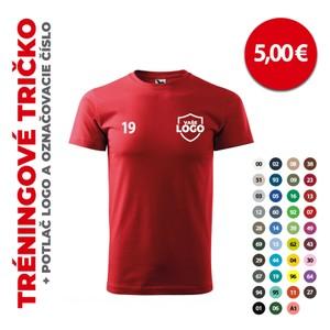 Tréningové tričko + potlač logo a označovacie číslo