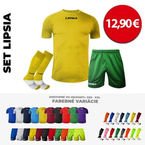 LEGEA dres krátky LIPSIA + trenky TAIPEI + štulpne MONDIAL