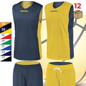 Sada 12ks obojstranných basketbalových dresov s trenírkami Assen