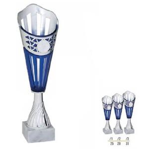 Športový pohár strieborno modrý