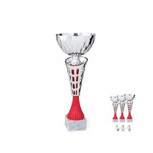 Športový pohár strieborno červený