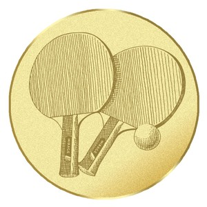 Emblém stolný tenis na pohár a medailu