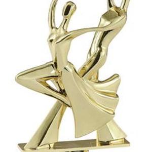 Figúrka tanečníkov zlatá 23 cm