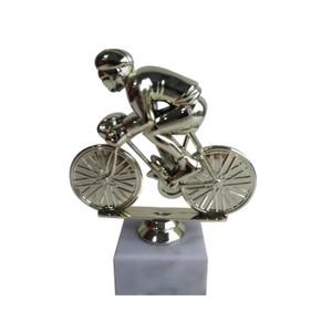Figúrka cyklistu zlatá 16 cm