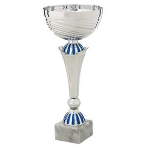 Športový striebornobelasý pohár