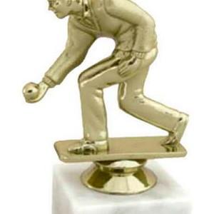 Figúrka kolkára zlatá 12 cm
