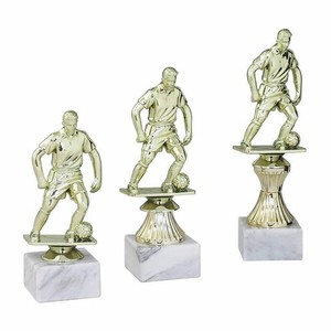 Figúrka hráča futbalistu zlatá 16 cm