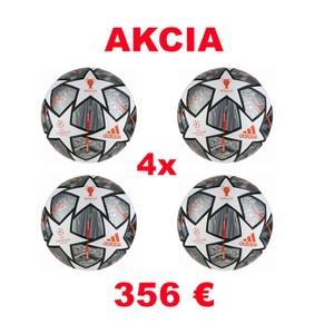 Akciový balík - 4 zápasové lopty adidas Finale Istanbul Pro