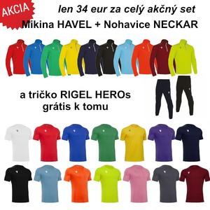 Mikina HAVEL + Nohavice NECKAR = ZDARMA Futbalový dres RIGEL HERO