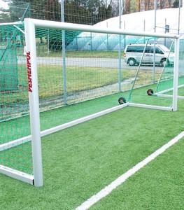 Prenosná futbalová bránka 7,32x2,44 m, hliníkový hlavný rám - oválny