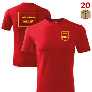 Balík 20ks tričiek s potlačou