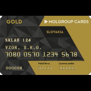 GOLD karta Slovakia spoločnosti SLOVNAFT, a.s.