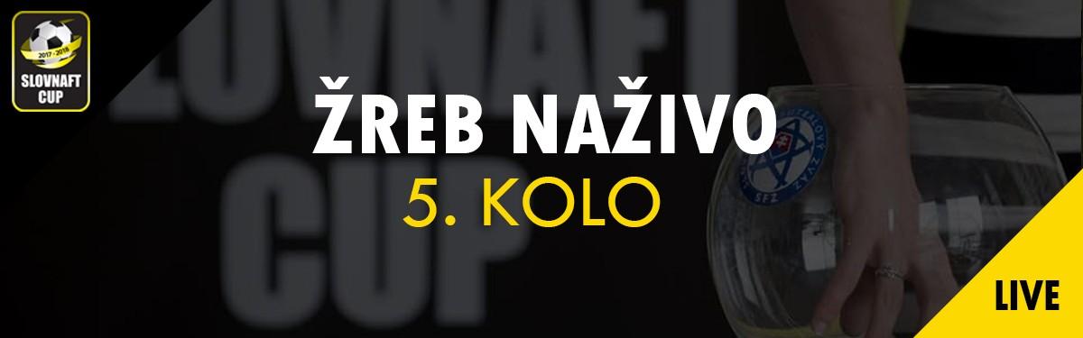 LIVE: 6.10. 2017 13:00 Žreb 5. kola Slovnaft Cupu 2017/2018