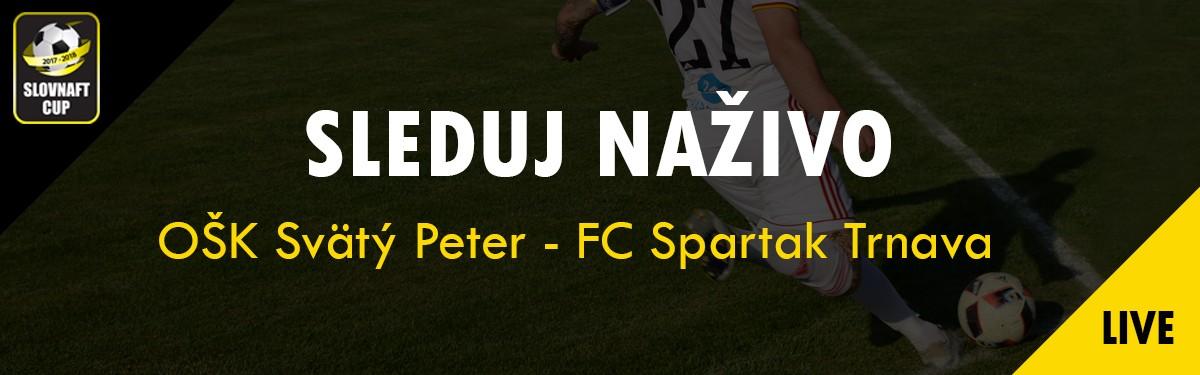 LIVE: 13.9. 2017 16:00 OŠK Svätý Peter – FC Spartak Trnava