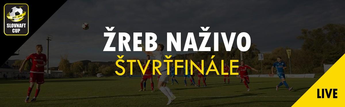 LIVE: 31.10. 2017 12:00 Žreb štvrťfinále Slovnaft Cupu 2017/2018