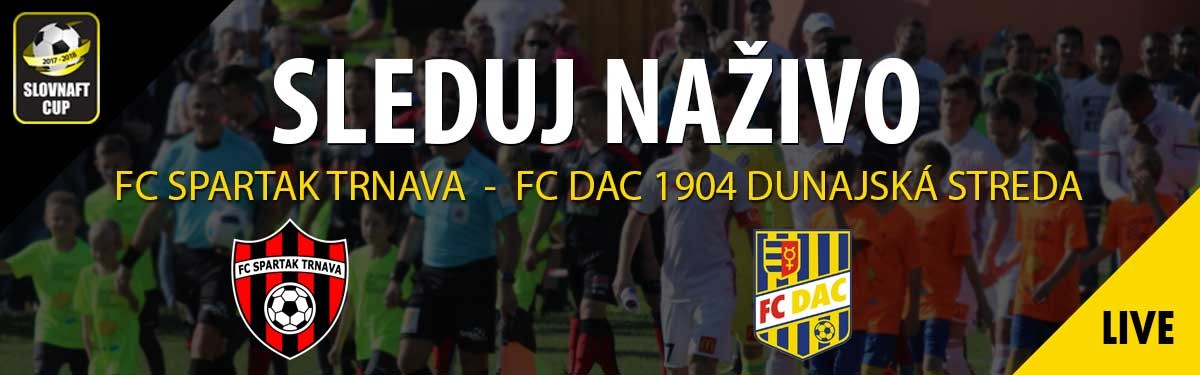 LIVE: 13.3. 2018 17:00 FC SPARTAK TRNAVA – FC DAC 1904 DUNAJSKÁ STREDA