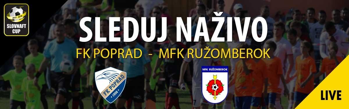 LIVE: 13.3. 2018 16:00 FK POPRAD – MFK RUŽOMBEROK