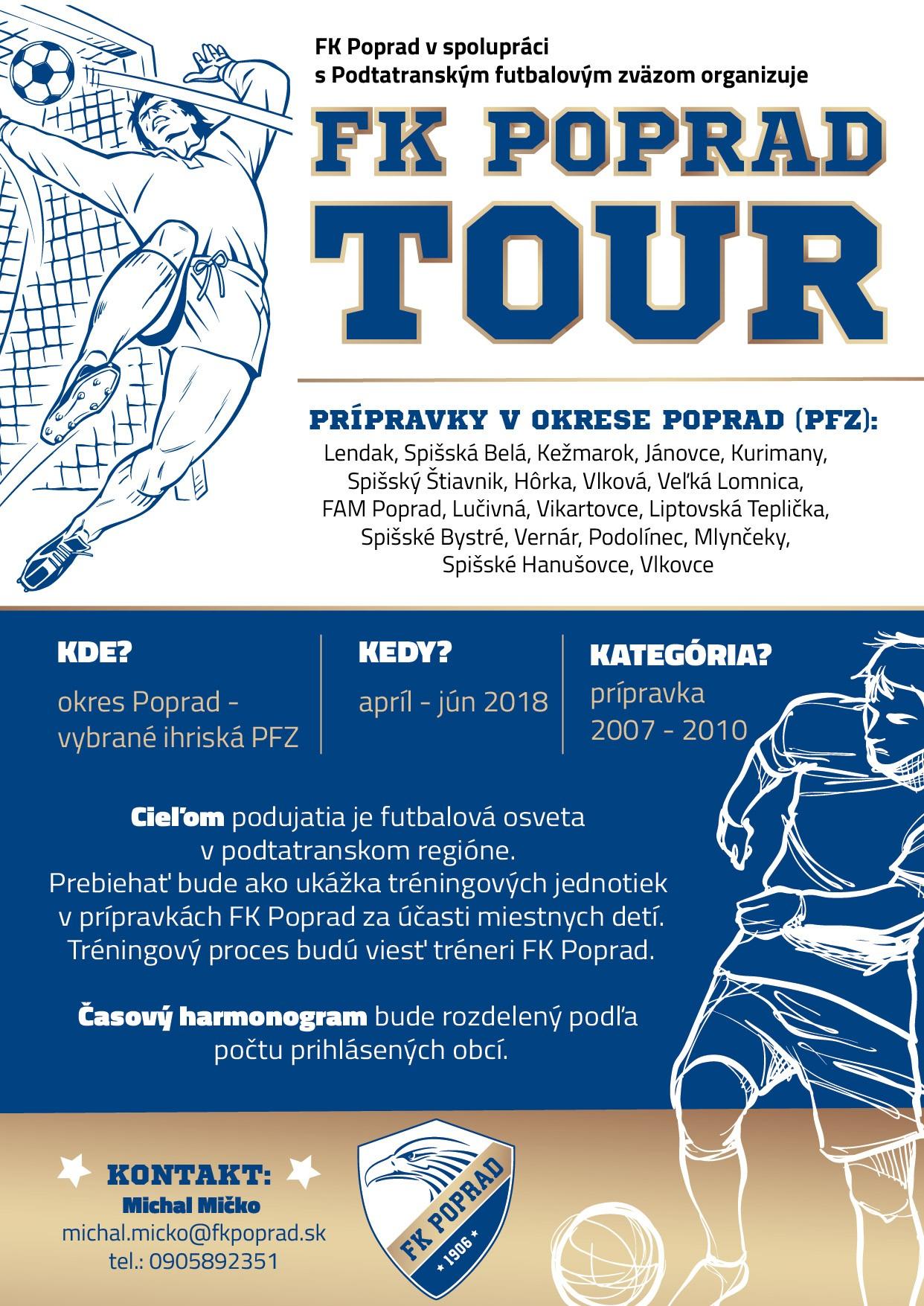 FK Poprad tour prípraviek