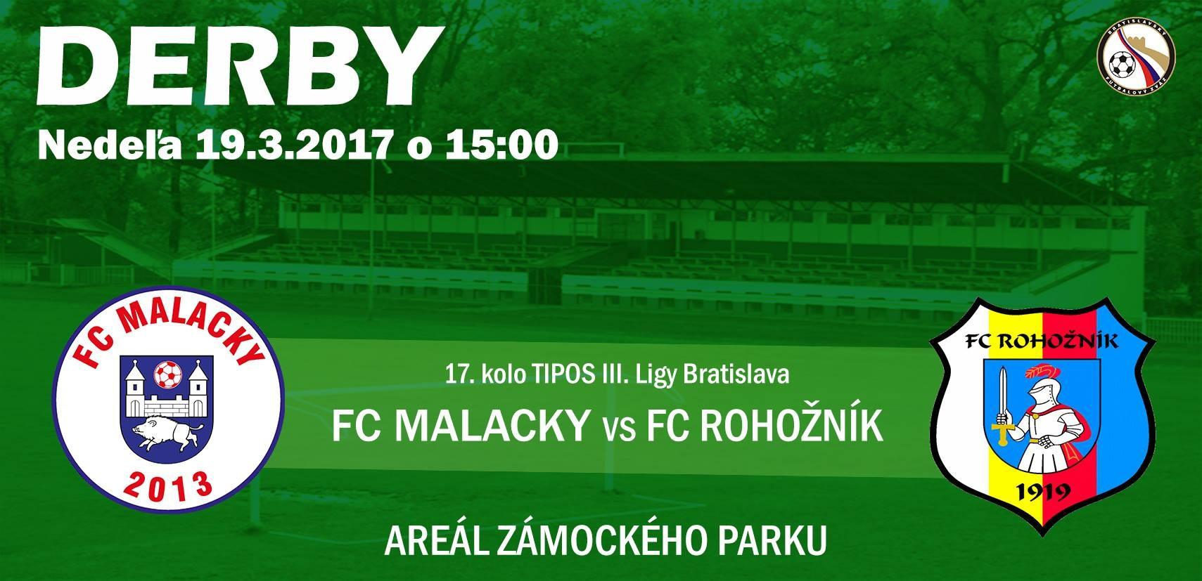 Pozvánka na derby FC Malacky - FC Rohožník