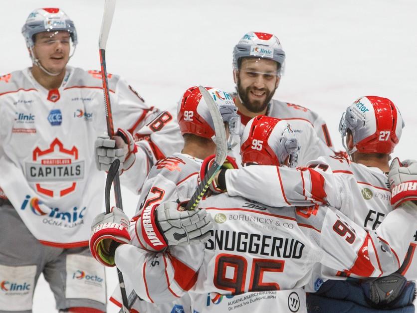 Prehrávali už o dva góly. Hráči Bratislava Capitals otočili zápas v Klagenfurte