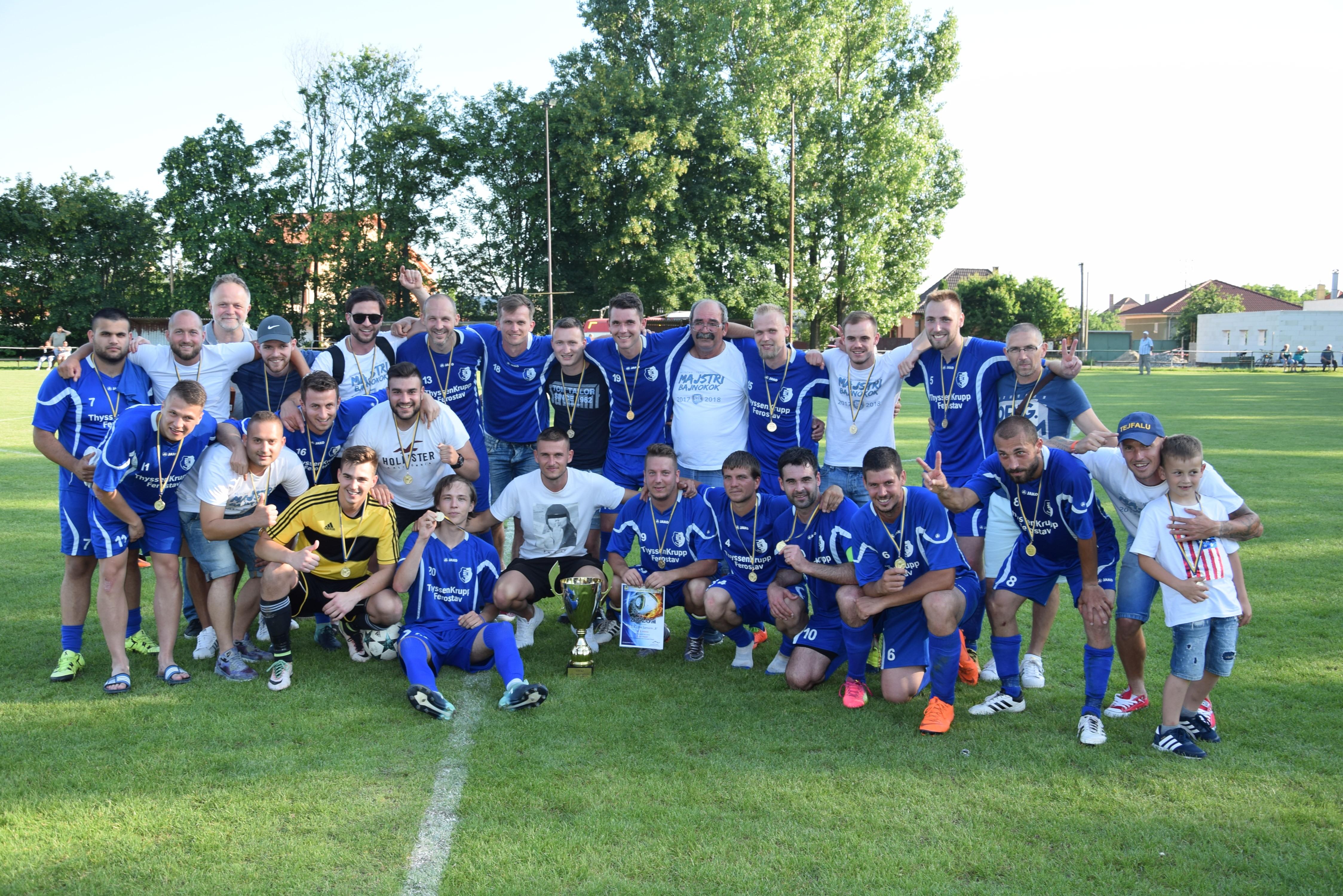 FC ŠTK 1914 Šamorín B víťazom VII. ligy ObFZ DS