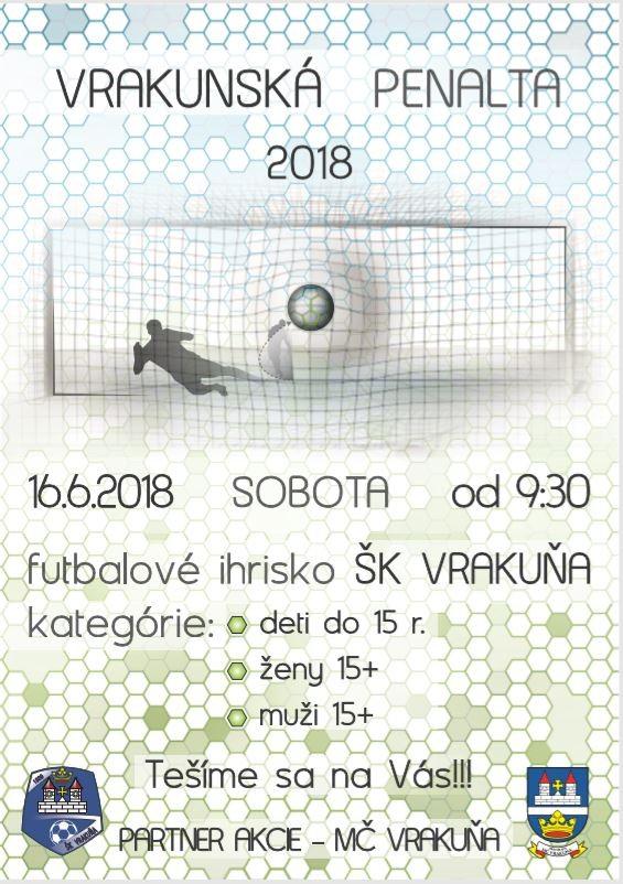 Pozvánka na Vrakunskú penaltu 2018