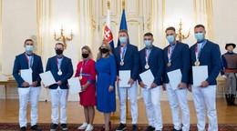 Prezidentka sa stretla s medailistami. Poďakovala im za obrovské sebaobetovanie