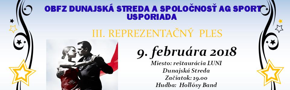 Ples ObFZ Dunajská Streda sa uskutočný 9.2.2018