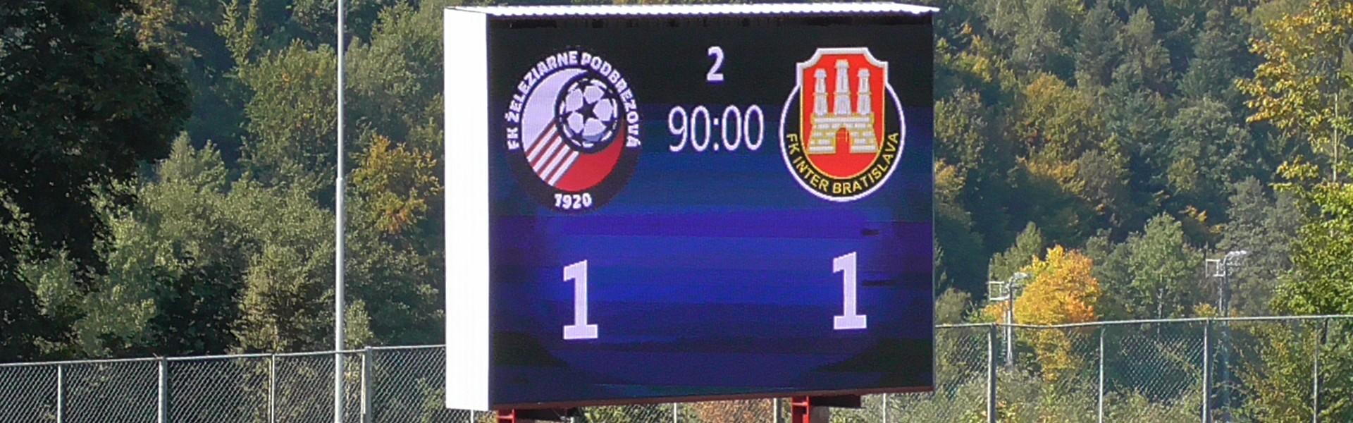 Inter s prvým bodom na ihrisku súpera