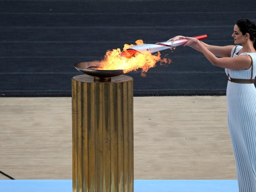 Na štadióne bola prvá moderná olympiáda. Peking prevzal olympijský oheň