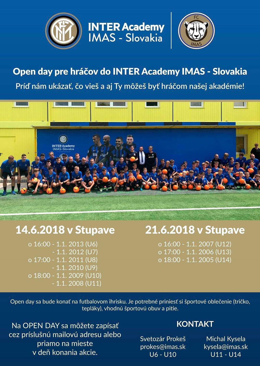 Inter Academy pozýva na tréningy mladých hráčov