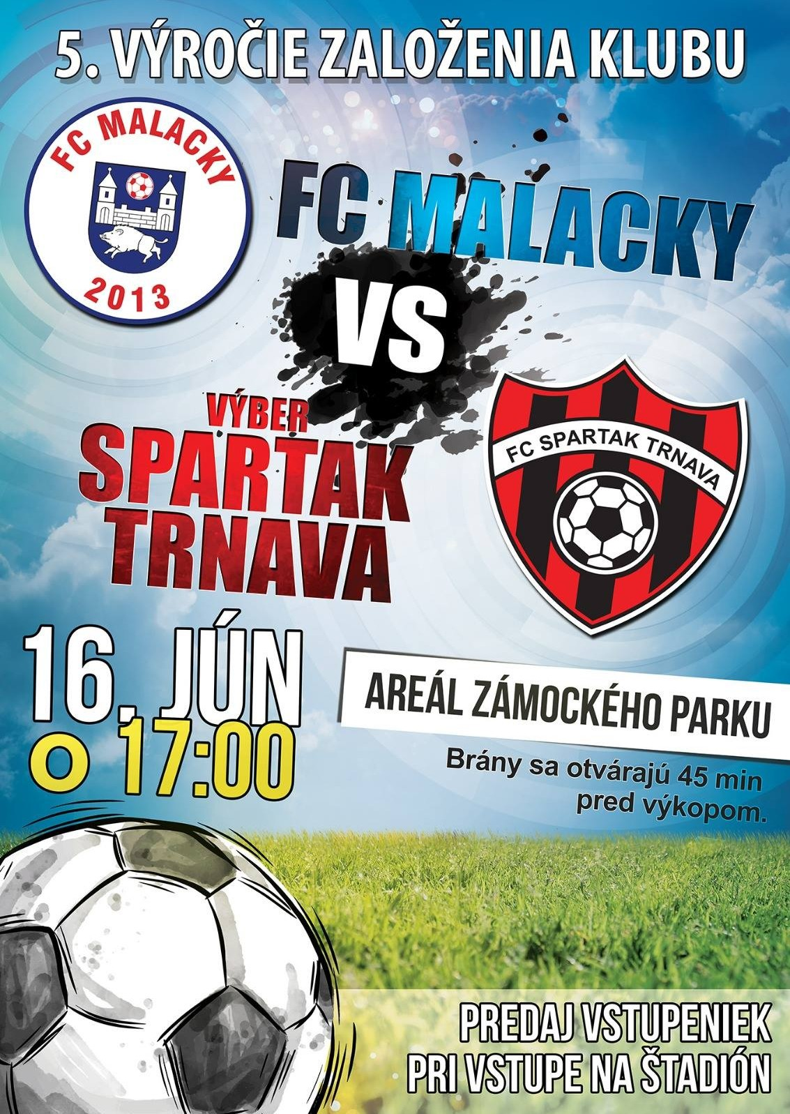 FC MALACKY - 5. výročie založenia klubu