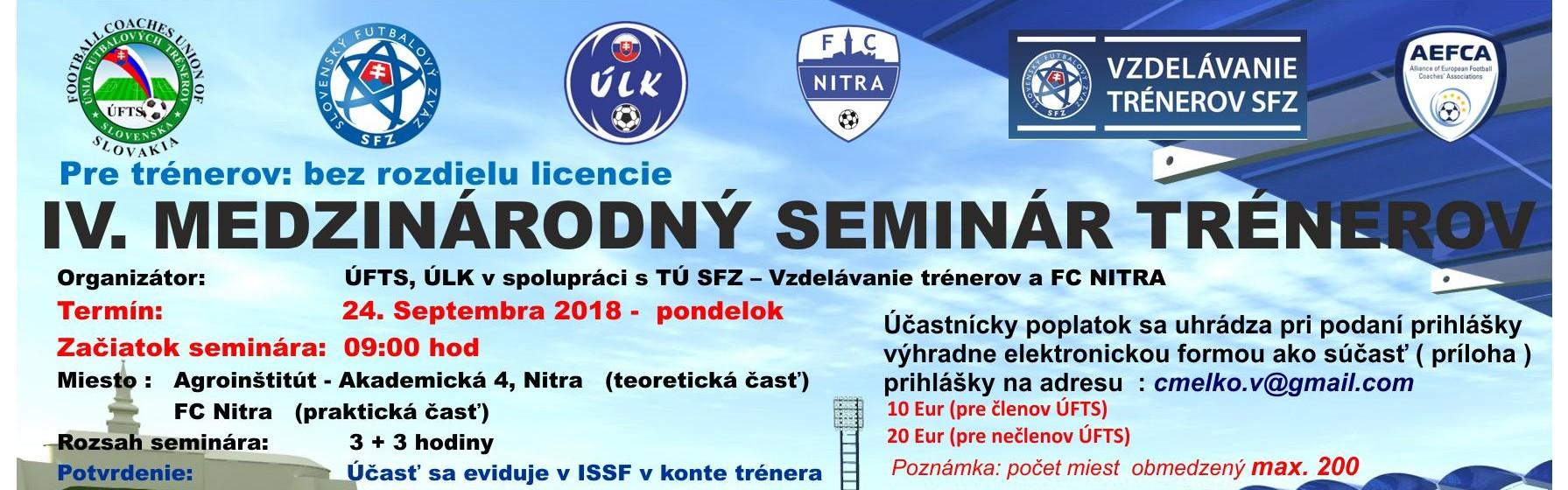 IV. medzinárodný seminár trénerov