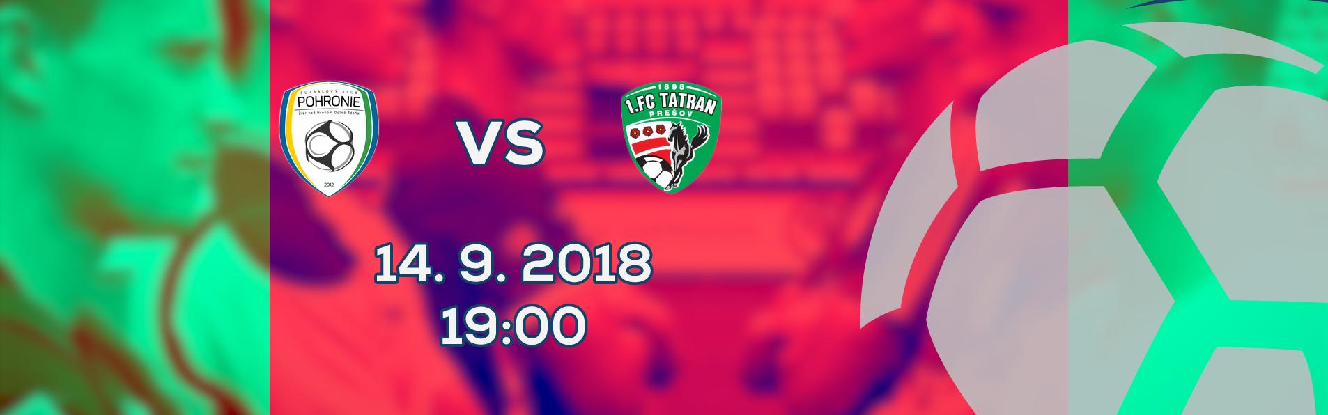 LIVE: 2. LIGA: 14. SEPTEMBRA 2018, 19:00 FK POHRONIE ŽIAR NAD HRONOM DOLNÁ ŽDAŇA – 1. FC TATRAN PREŠOV