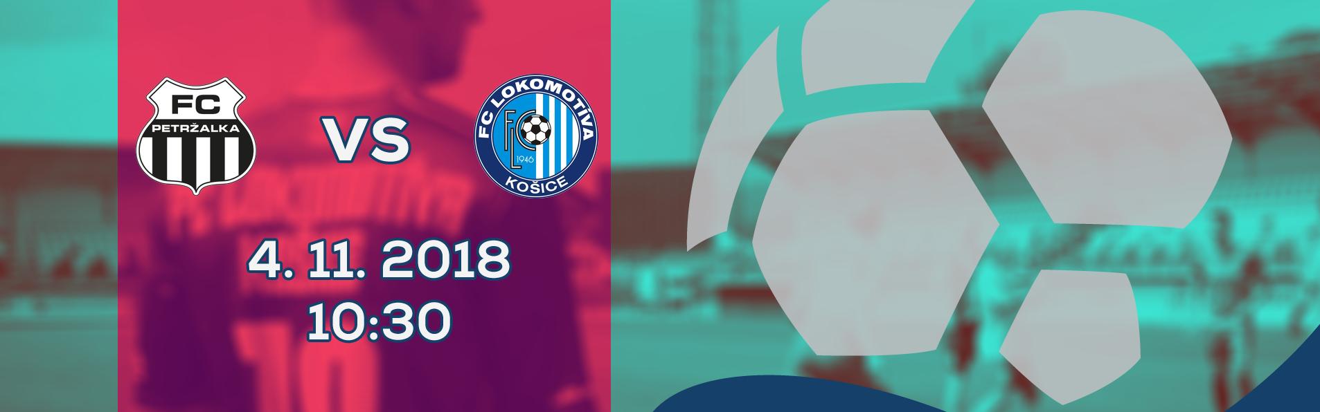 LIVE: 2. LIGA: 4. NOVEMBRA 2018, 10:30 FC PETRŽALKA – FC LOKOMOTÍVA KOŠICE