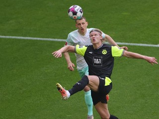Haaland strelil dva góly za štyri minúty, Dortmund nedal šancu Werderu
