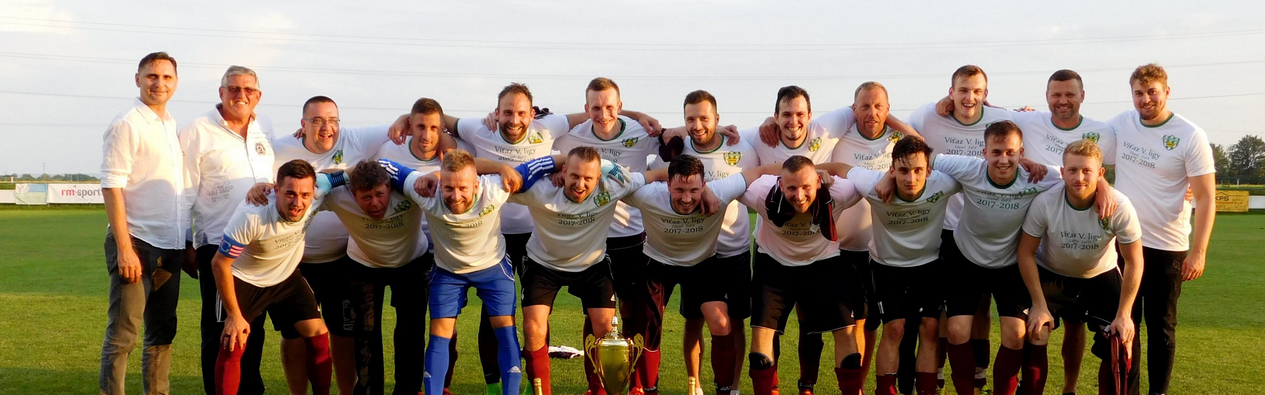 V. liga Západ: Trebatice už majú svoj víťazný pohár