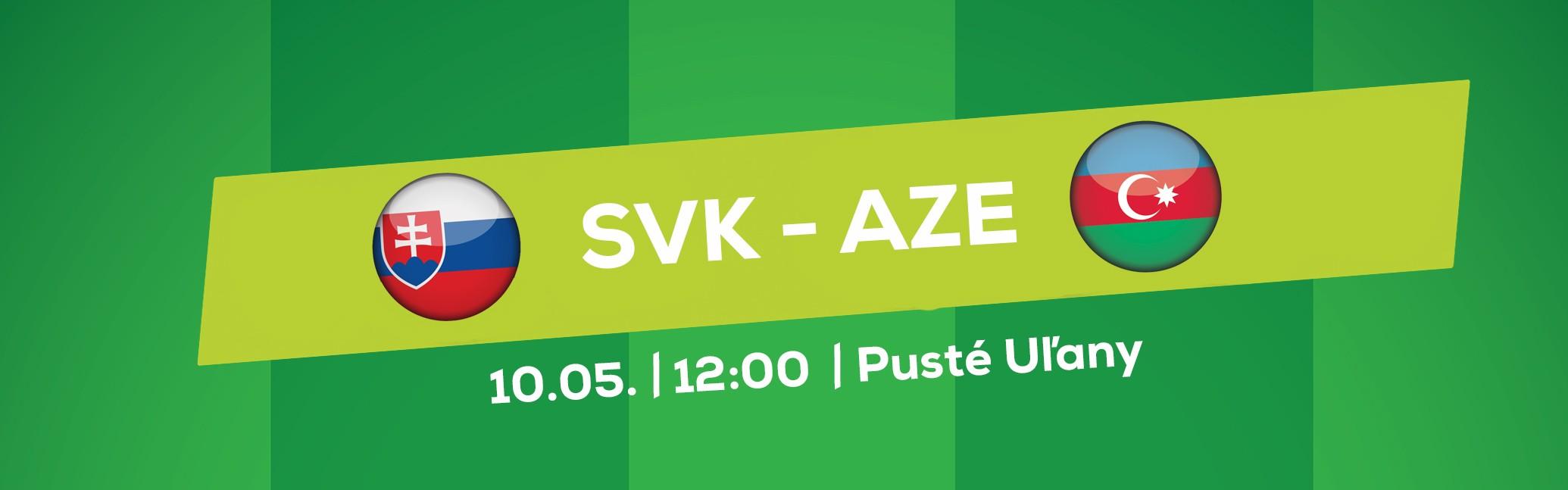 LIVE: SLOVAKIA CUP 2018: 10.5. 2018, 12:00 SLOVENSKO U18 – AZERBAJDŽAN U18 (PUSTÉ ÚĽANY)