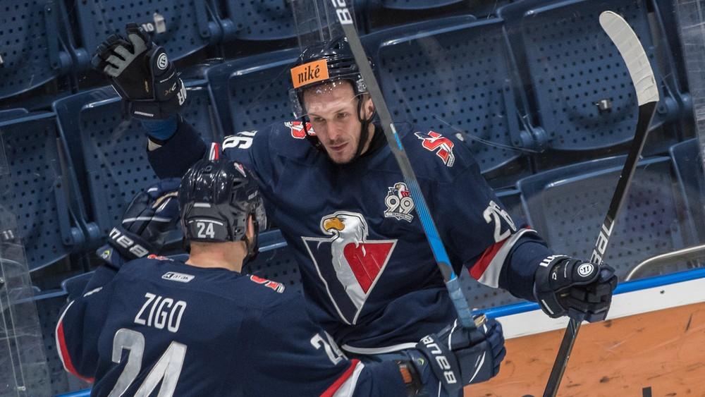 Slovan v úvode play off vynuloval Nitru, Detva vzdorovala Popradu dve tretiny