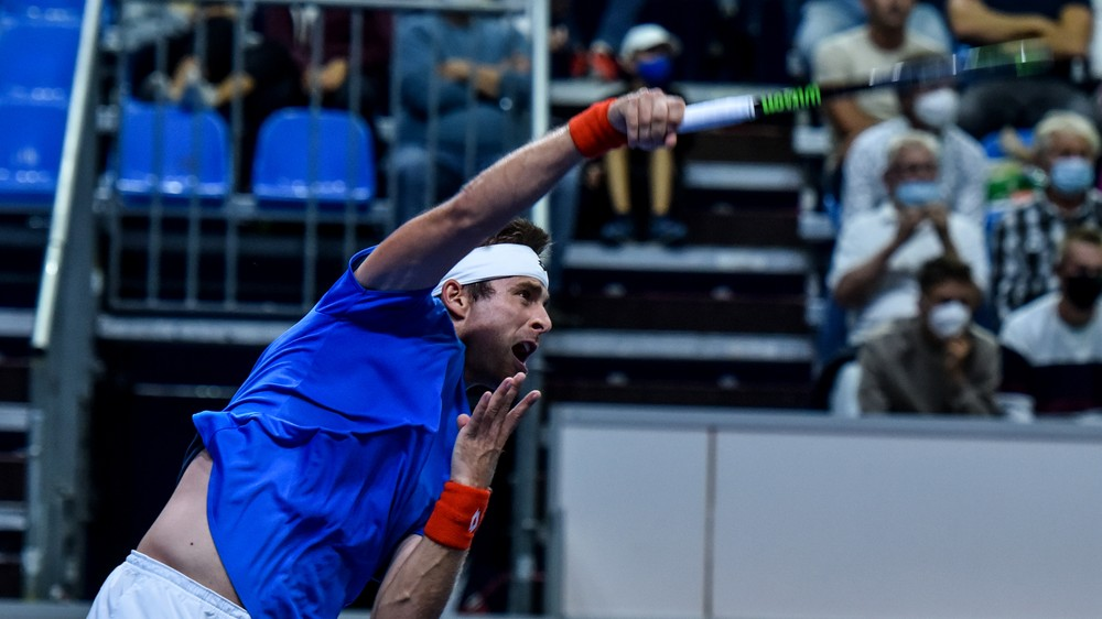 ONLINE: Norbert Gombos - Cristian Garín (Davis Cup, 4. zápas)