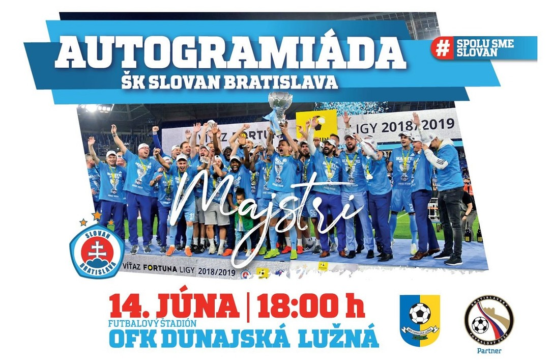 Autogramiáda Majstrov SR vo futbale ŠK SLOVAN Bratislava