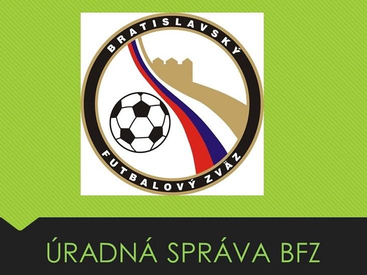 ÚRADNÁ SPRÁVA Č.20 ZO DŇA 16.11.2018