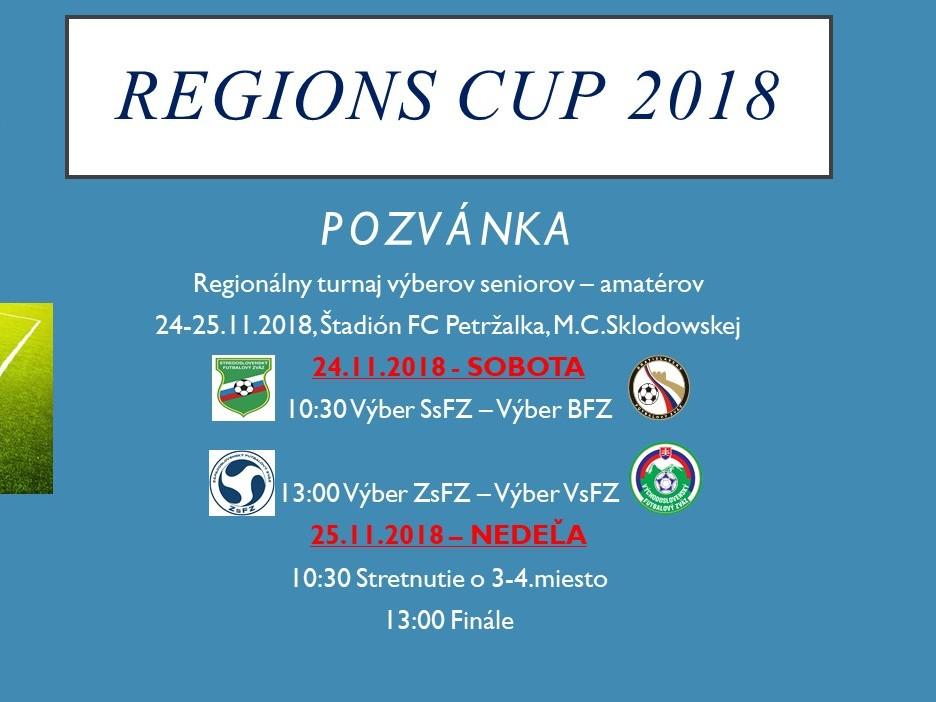 Víťazom Regions cup 2018 po penaltovom rozstrele výber ZsFZ