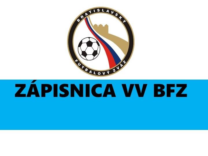 Zápisnica č.11 Zo zasadnutia VV BFZ, konaného dňa 12.novembra v Bratislave, Súmračná 27