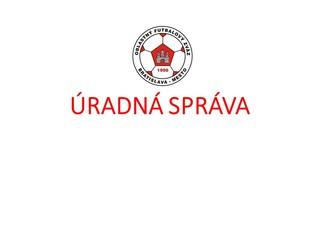 Úradná správa ObFZ Bratislava-mesto č.8 2021/2022 zo dňa 20.08.2021