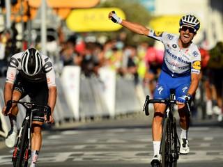 Prvú horskú etapu na Tour vyhral Alaphilippe. Sagan zbieral body v úniku