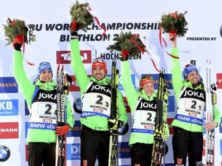 Nemecko získalo prvé zlato na MS v biatlone, Slováci skončili dvanásti